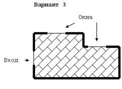 Вариант укладки по диагонали от окна.