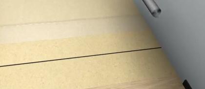 Стелим новый рулон подложки.